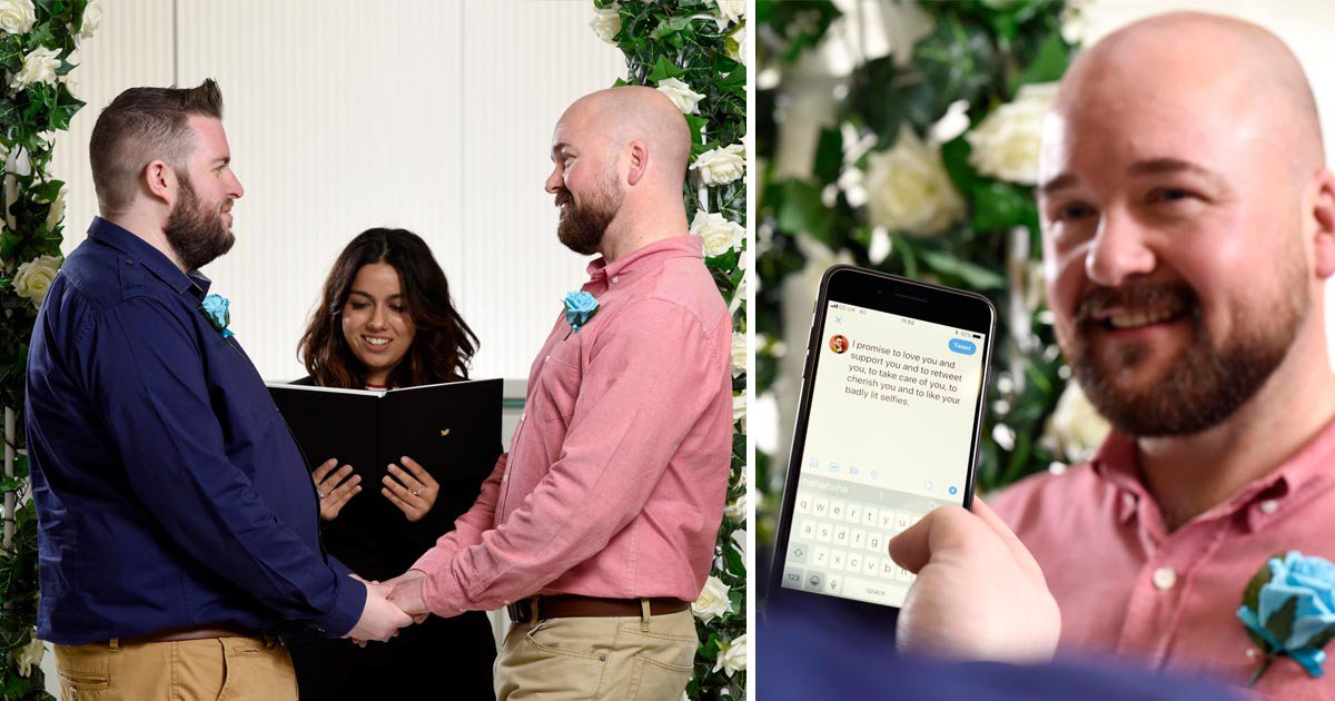 Couple who met on Twitter celebrate with 280 character wedding vows