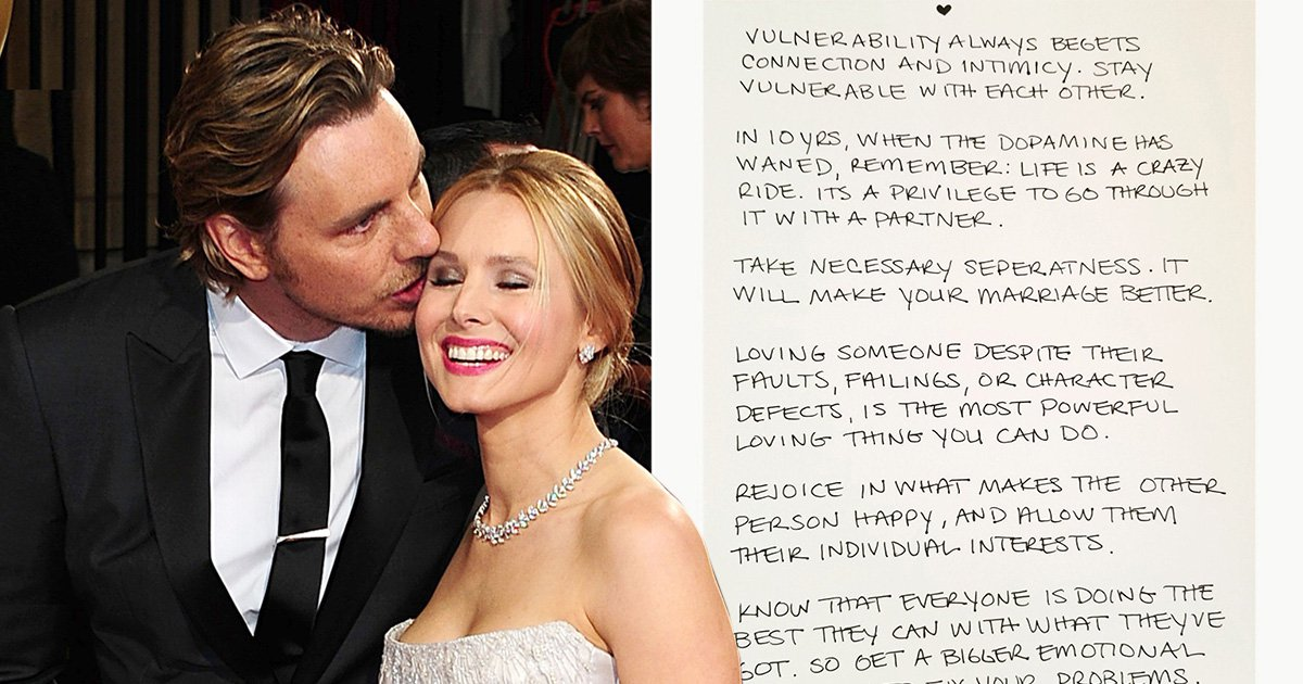 Kristen Bell shares her secrets to happy marriage with Dax Shepard for Valentine's Day and it's pretty wise