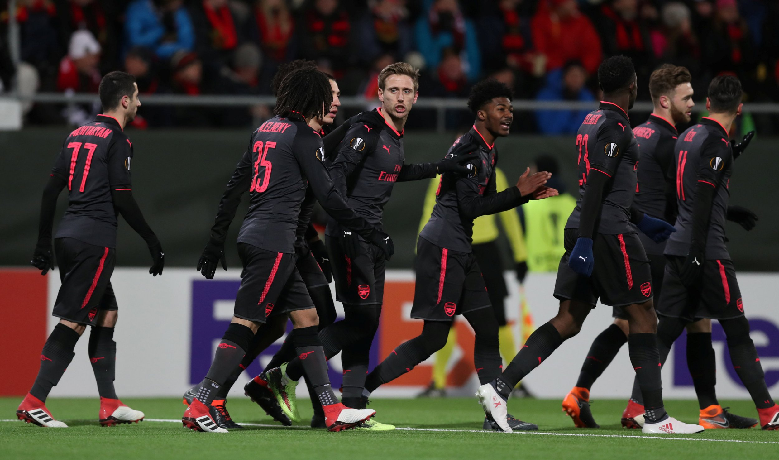 Three Arsenal players thought they could handle not wearing gloves v Ostersunds FK