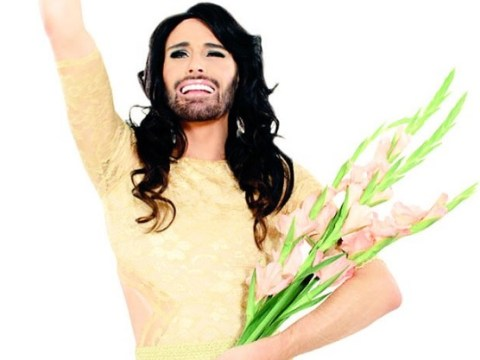 Rylan dresses as Conchita Wurst ahead of his stint on the Eurovision: You Decide judging panel