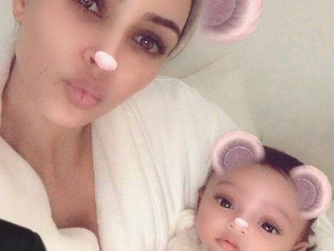 Kim Kardashian shows off adorable baby Chicago for first time