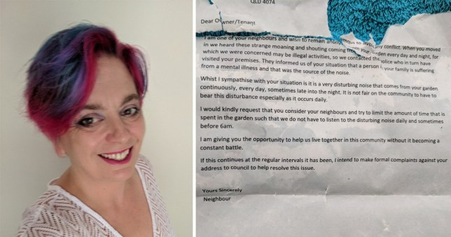 Neighbours send mum anonymous letter complaining about son's