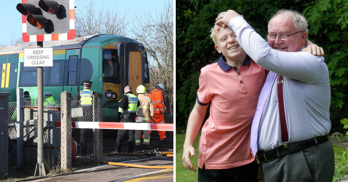 First pictures of schoolboy, 15, and grandfather killed in level crossing crash