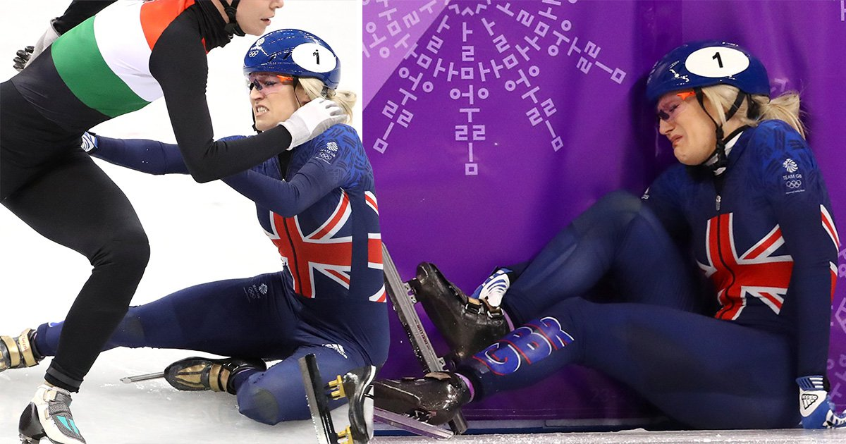 Fresh Winter Olympics heartbreak for Elise Christie after dramatic disqualification