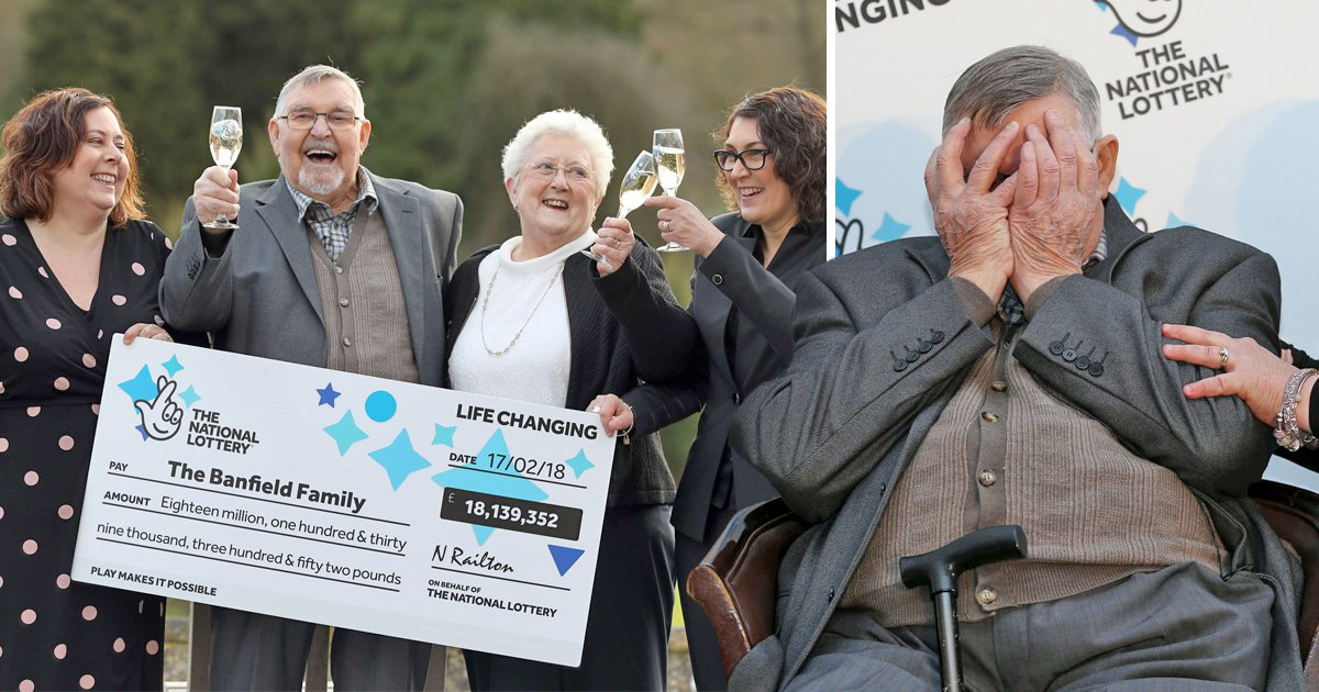 Dad-of-two weeps as he celebrates £18 million lottery win