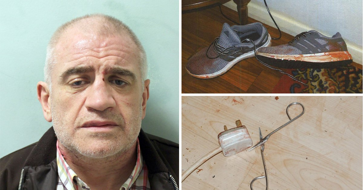 Blood-splattered home where man attacked his girlfriend for two hours