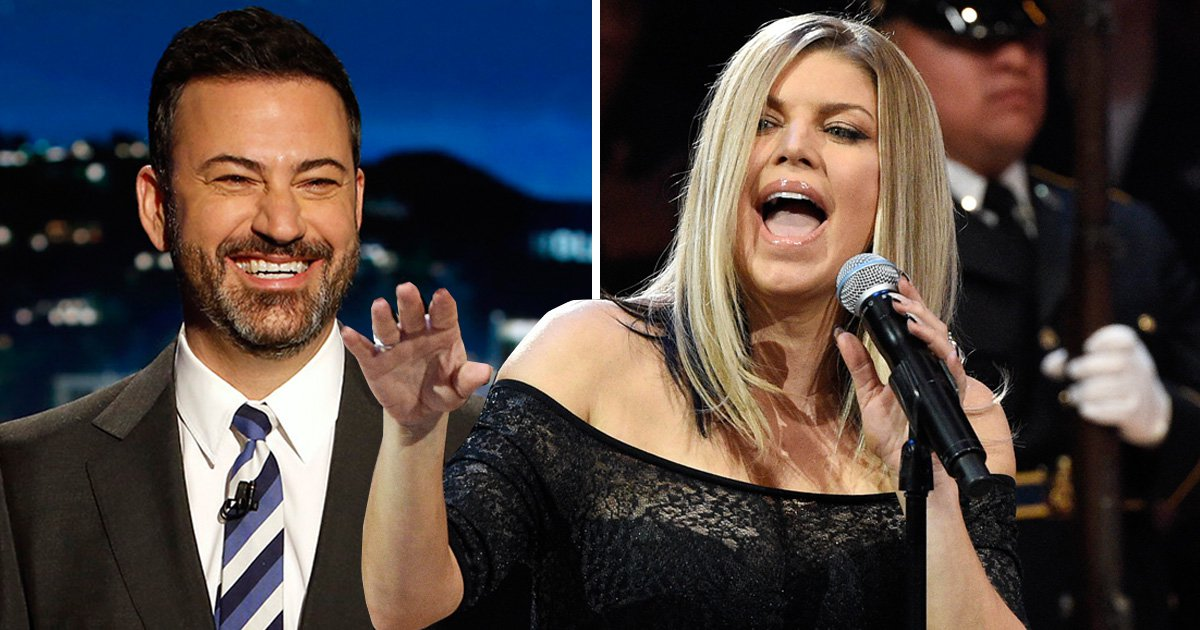 Jimmy Kimmel explains his hilarious reaction to Fergie's awkward rendition of the national anthem