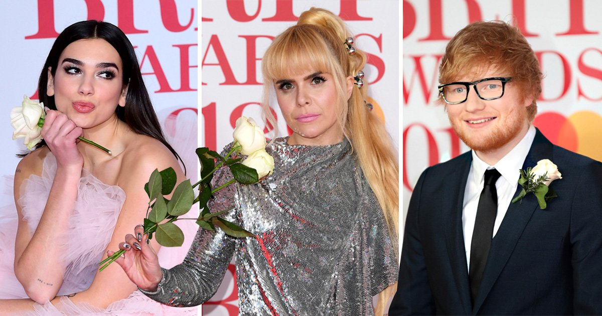 Why were celebs wearing white roses at the Brits?