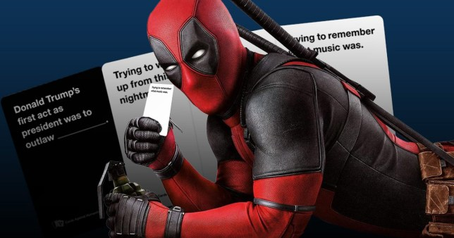 Deadpool getting Cards against humanity style game