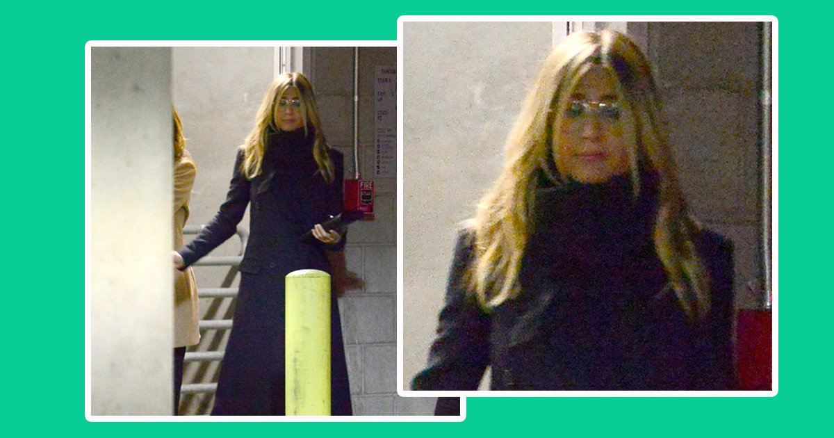 PREMIUM EXCLUSIVE FEE TO BE AGREED: **NO WEB** A sad looking Jennifer Aniston makes a rare public outing after her shock separation from husband Justin Theroux