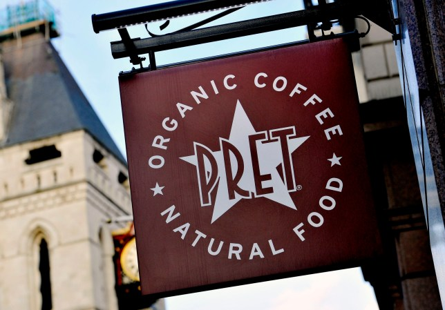 File photo dated 27/02/15 of a Pret A Manger sign, as the sandwich chain has said that it wants to trial its own return scheme that would add 10p to all Pret plastic bottles and return 10p for each one given back to its shops to recycle. PRESS ASSOCIATION Photo. Issue date: Tuesday February 27, 2018. The chain has asked customers for feedback and it hopes that the trial will go ahead in Brighton in April. See PA story CONSUMER Pret. Photo credit should read: Nick Ansell/PA Wire