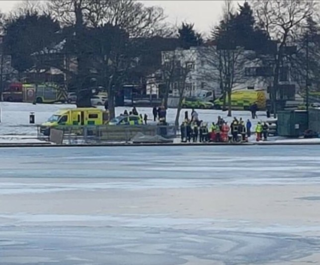 (Picture: @TheLocalYidiot) A man, believed to be in his 60s, has died in hospital after being pulled from the water at Danson Park, in Welling, south east London, Scotland Yard said.