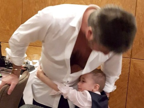 Simon Cowell shows softer side and invites five-year-old cancer patient to son Eric's birthday
