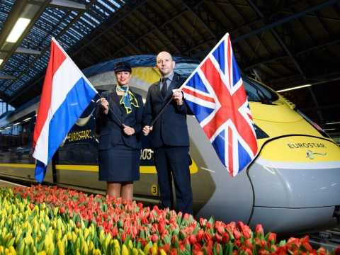 Direct train from London to Amsterdam leaves for the first time