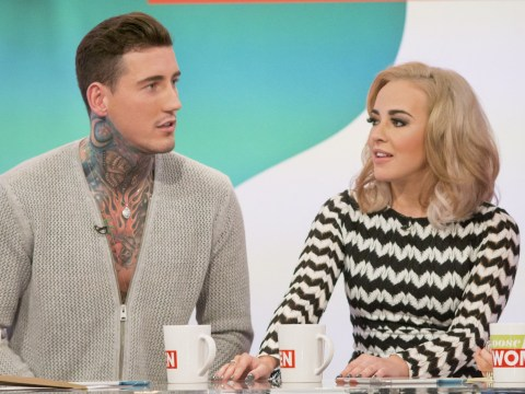 Stephanie Davis says Jeremy McConnell threw a phone charger at her head while she was holding their son