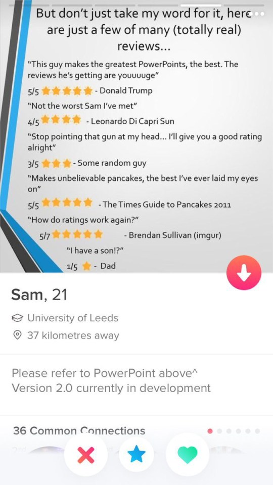 Man secures Tinder date with an epic PowerPoint presentation