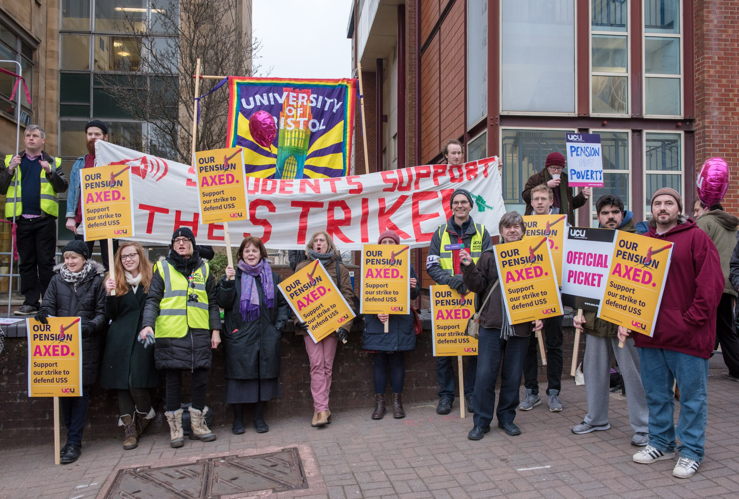 University staff begin month of walkouts in pension row
