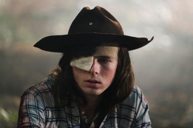 Carl Grimes in AMC The Walking Dead