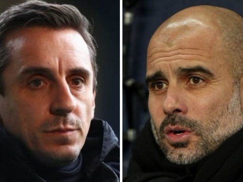 Gary Neville slams Pep Guardiola over Manchester City squad selection for Burnley clash