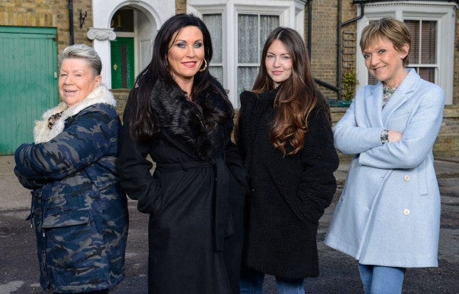 Kat, Mo, Jean and Stacey in EastEnders