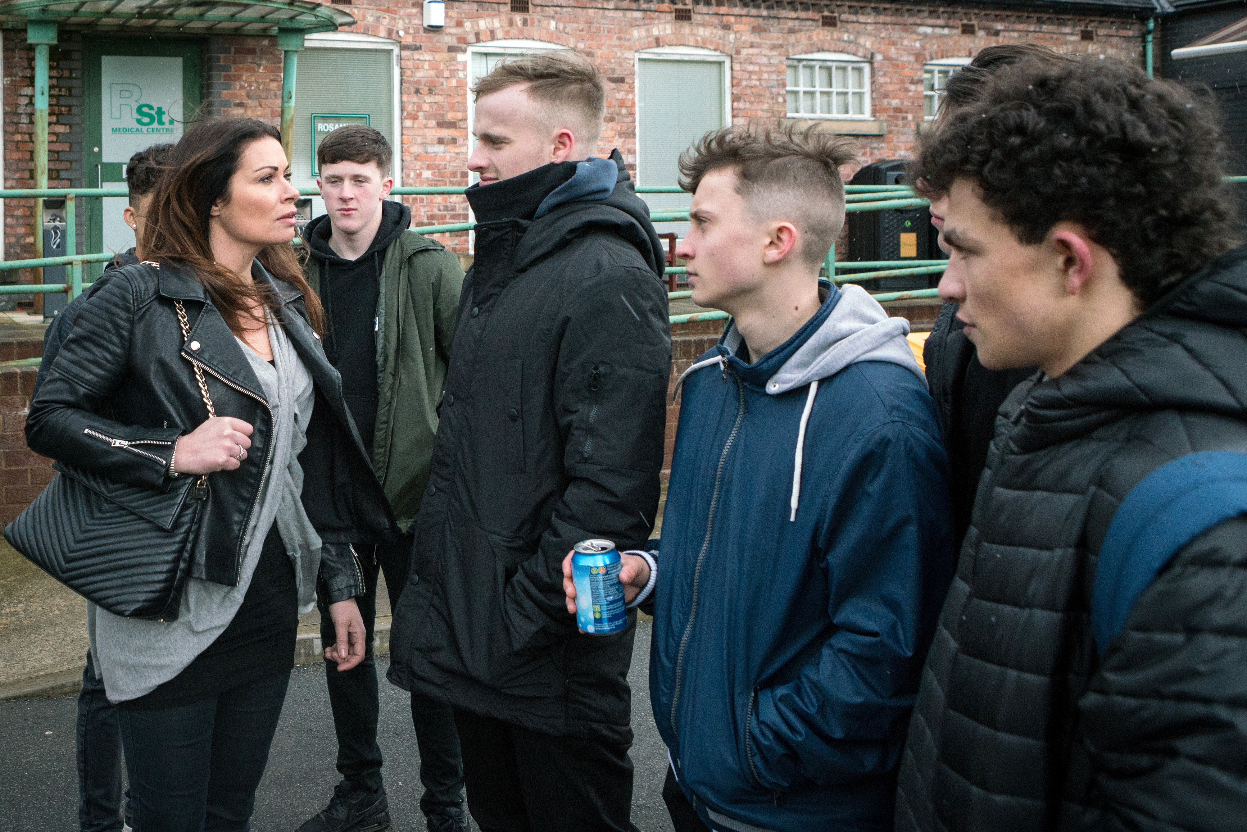 Carla stands up to the gang in Coronation Street