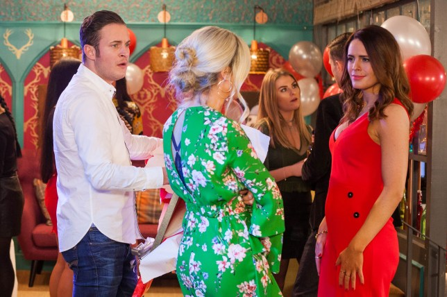 Luke and Mandy argue with Scarlett in Hollyoaks