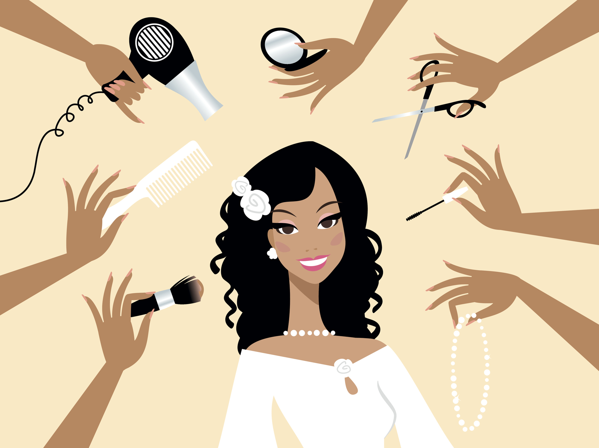 Why do so many women completely change their appearance before their wedding?