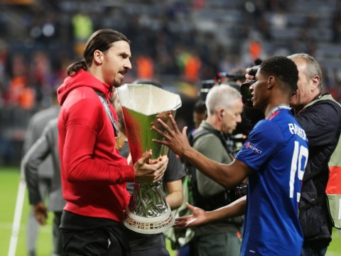 Marcus Rashford sends thank you to Zlatan Ibrahimovic following Manchester United exit