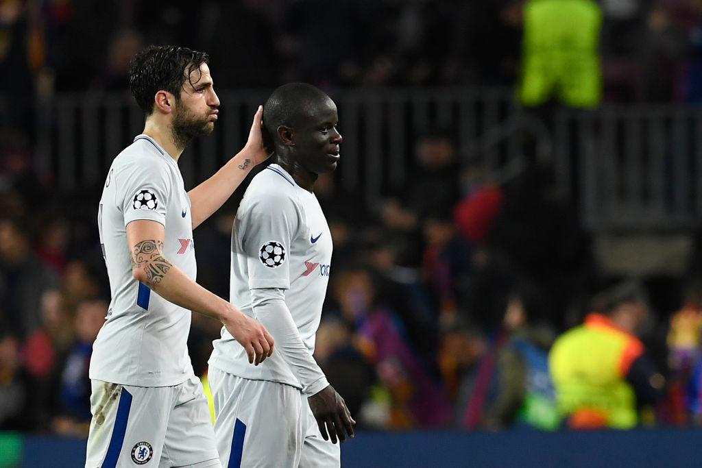 Cesc Fabregas and N'Golo Kante have to start for Chelsea against Tottenham, says Ray Wilkins