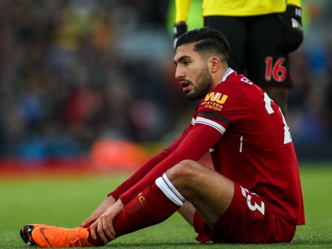 Emre Can could miss rest of Liverpool's season and the World Cup due to back injury