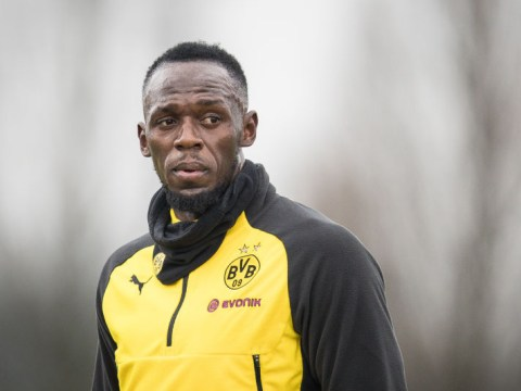 Usain Bolt lights up Borussia Dortmund training with brilliant goal and nutmeg