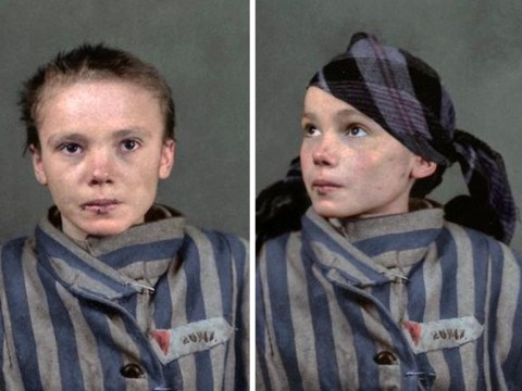 Picture of girl in Auschwitz is even more haunting transformed with colour