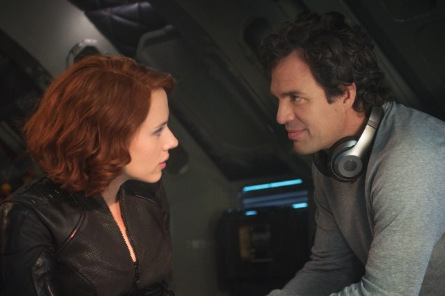 Scarlett Johansson as Black Widow and Mark Ruffalo as Bruce Banner/The Hulk in Avengers: Age Of Ultron
