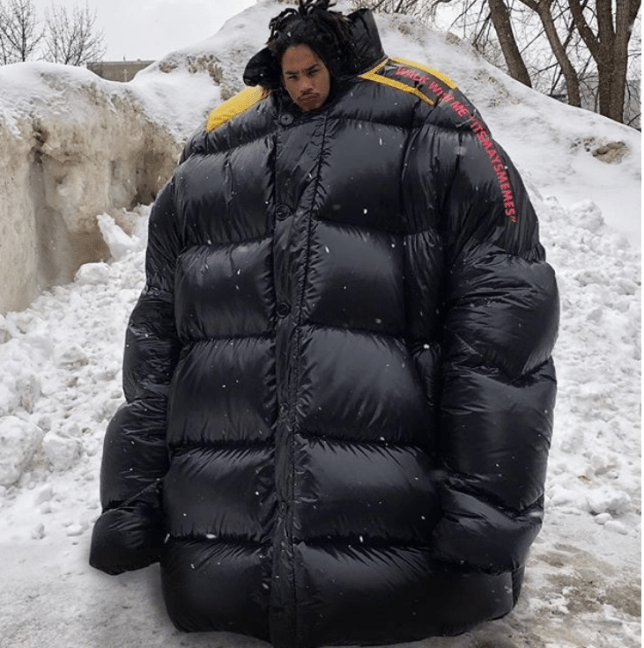È Industrializzare grado  Instagram is filling up with celebs in gigantic bubble jackets and fugly  trainers | Metro News