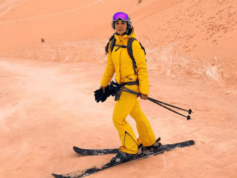 Eastern Europe is covered in a dusting of Instagram-worthy orange snow right now