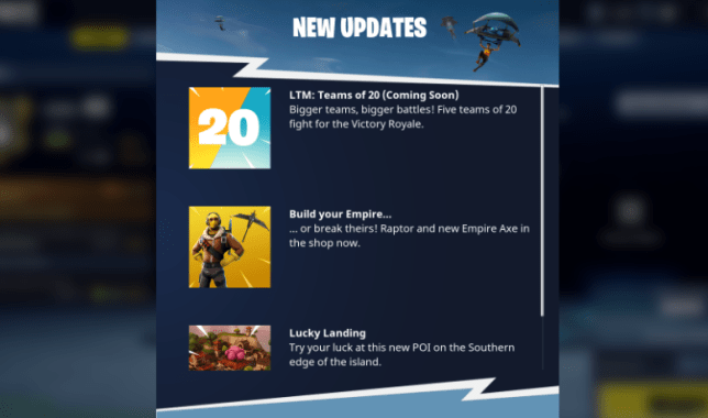 teams of 20 game mode being added to fortnite battle royale - fortnite victory royale logo png