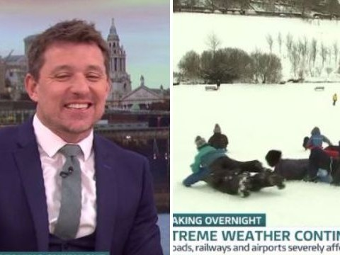 Ben Shephard and Kate Garraway in hysterics as Good Morning Britain reporter makes sledging fail