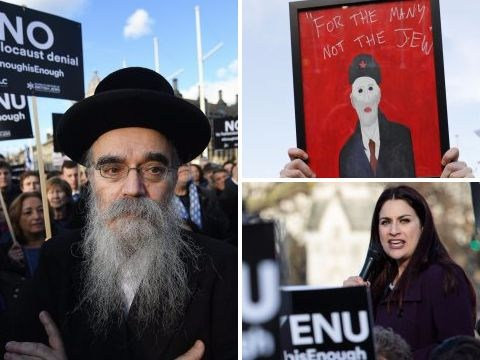 Hundreds of protesters call for Jeremy Corbyn to resign over anti-Semitism claims