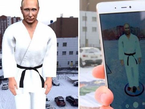 Massive Vladimir Putin hologram appears in Russia
