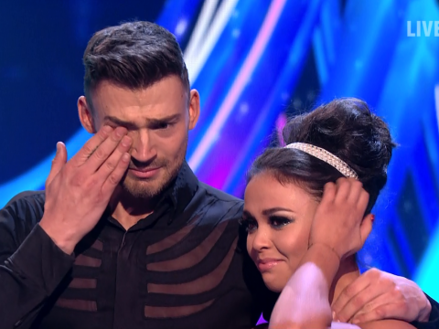 Jake Quickenden in tears as he lands first perfect score of the series on Dancing On Ice