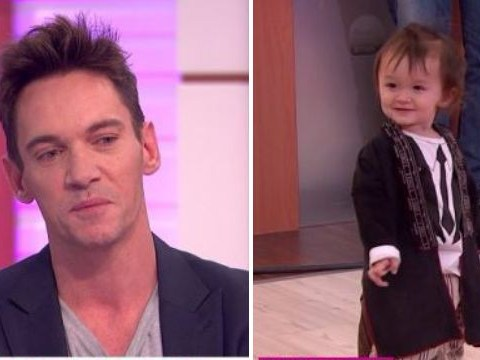 Jonathan Rhys Meyers looks happy and healthy as he brings adorable son Wolf to Good Morning Britain