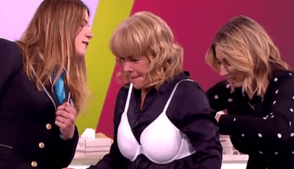 Linda Robson shouts 'sh*****g hell!' as she fails to break bra-wearing world record