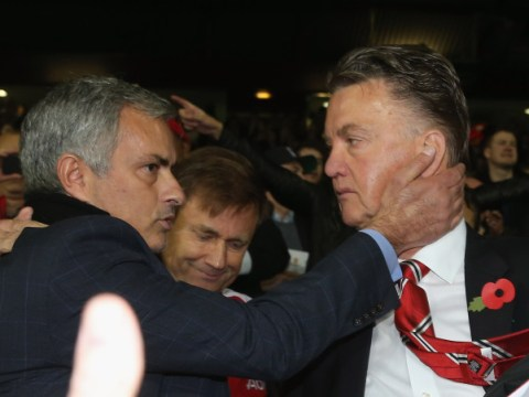 Louis van Gaal finally ends feud with Jose Mourinho… before slamming Manchester United CEO Ed Woodward