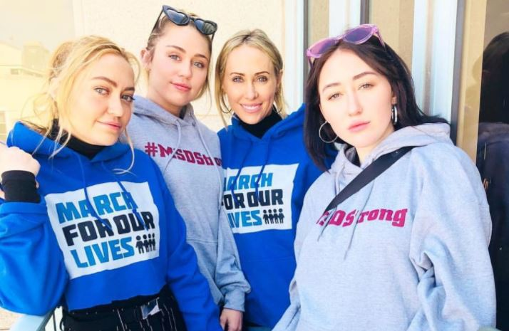 Miley Cyrus joins March For Our Lives at enormous rally for gun control