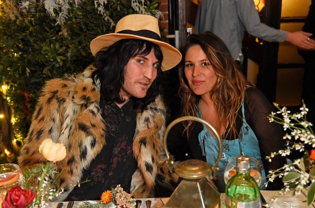 LONDON, ENGLAND - JANUARY 30: Noel Fielding and Lliana Bird attend the launch of The Tanqueray No. TEN Table at Dalloway Terrace hosted by Gizzi Erskine on January 30, 2018 in London, England. (Photo by David M. Benett/Dave Benett/Getty Images for Tanqueray No. Ten Gin)
