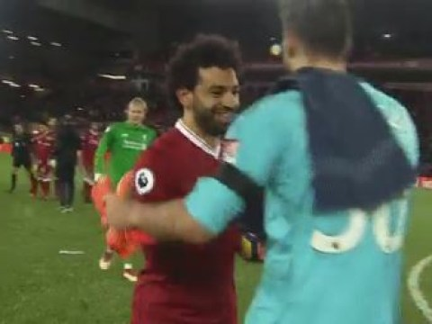 Mohamed Salah apologised to Watford's goalkeeper after scoring four times in crushing Liverpool win