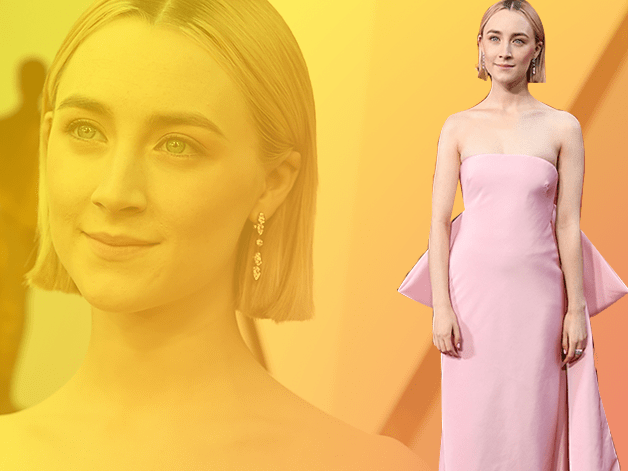 Saoirse Ronan's pink dress for the Oscars is by Calvin Klein