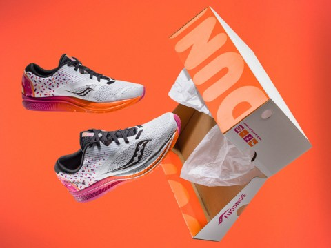 Celebrate your love of doughnuts with these Dunkin' Donuts Saucony trainers
