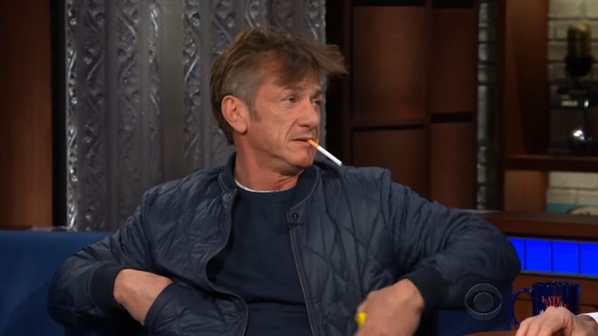 'What is wrong with him?' Viewers concerned after Sean Penn smokes cigarette while on Ambien in bizarre Stephen Colbert interview