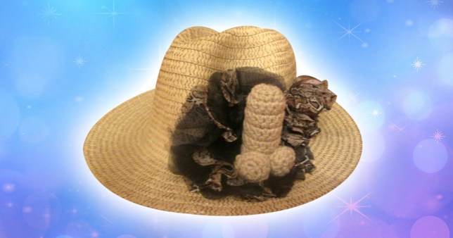 fbdff0d7f93 Ever desperately needed a straw cowboy hat with a knitted penis attached